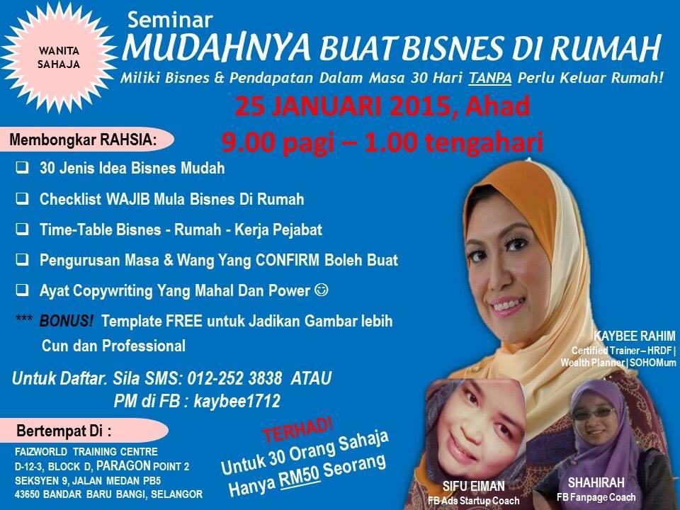 Promo Seminar Mudahnya Buat Bisnes