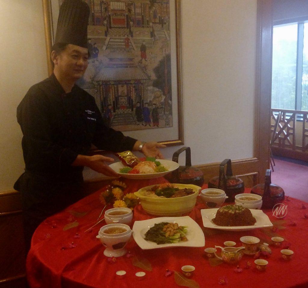 Chef Patrick Ng dengan hidangan Tahun Baru Cina 2017