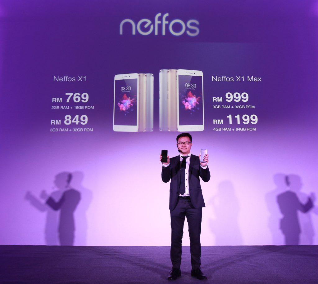 Pengenalan Harga Telefon Pintar Siri Neffos X oleh Pengarah Jualan, Robert Hu