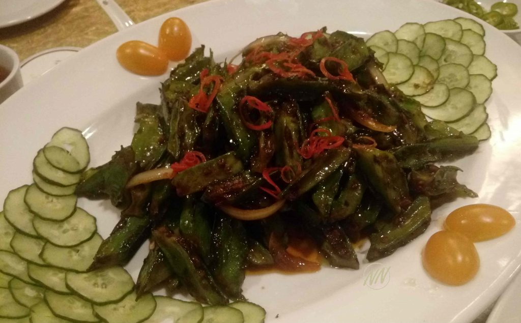 Stir Fried Four Angle Beans with Belacan