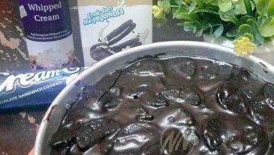 Pokka Milk Cookies & Cream Soft Brownie yang sudah siap