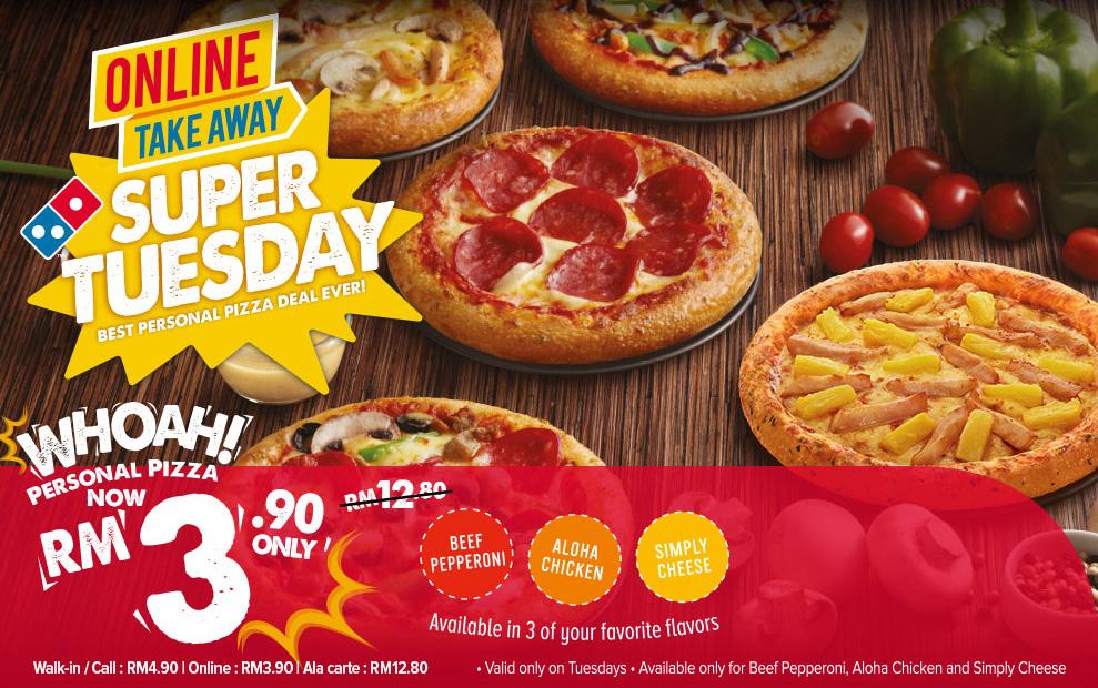 Promosi Domino's Super Tuesday