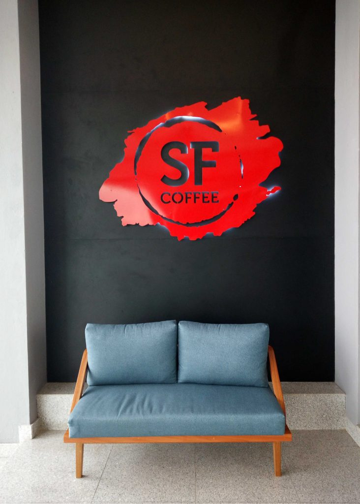 Deko baru SF Coffee