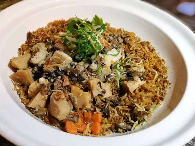 Wok-fried rice with shredded cuttlefish and silver anchovies