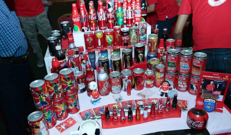 Football was the theme for the day at the Coca-Cola Collectors Fair 2018