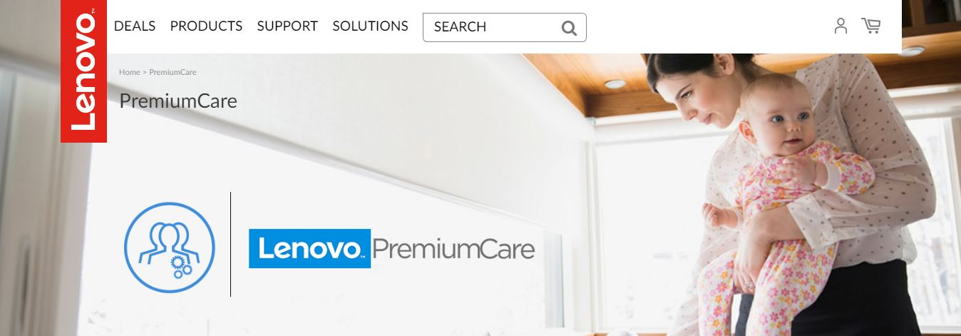Page Lenovo PremiumCare