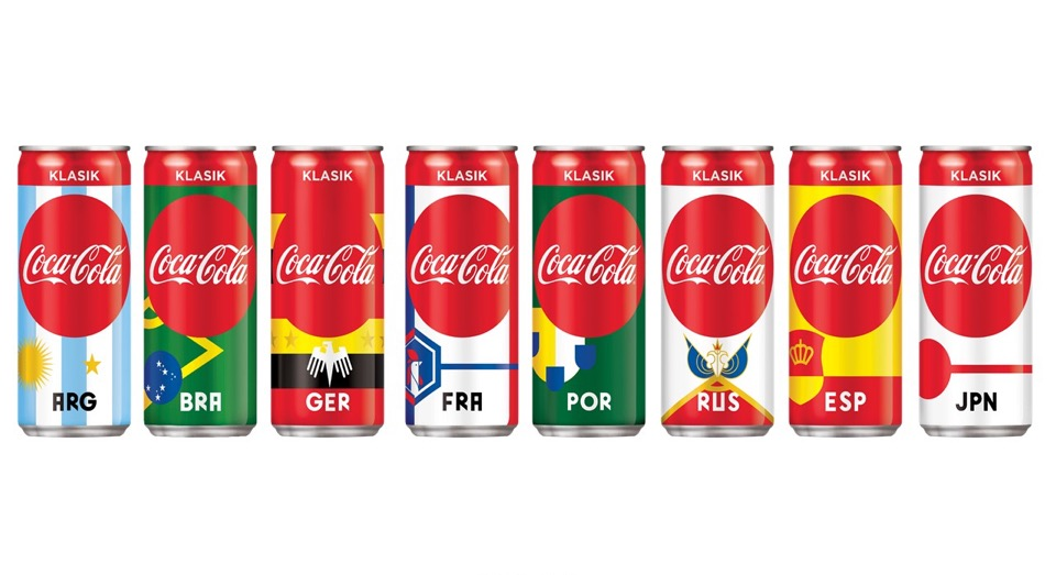 Collect the full set of Coca-Cola 2018 FIFA World Cup Russia cans