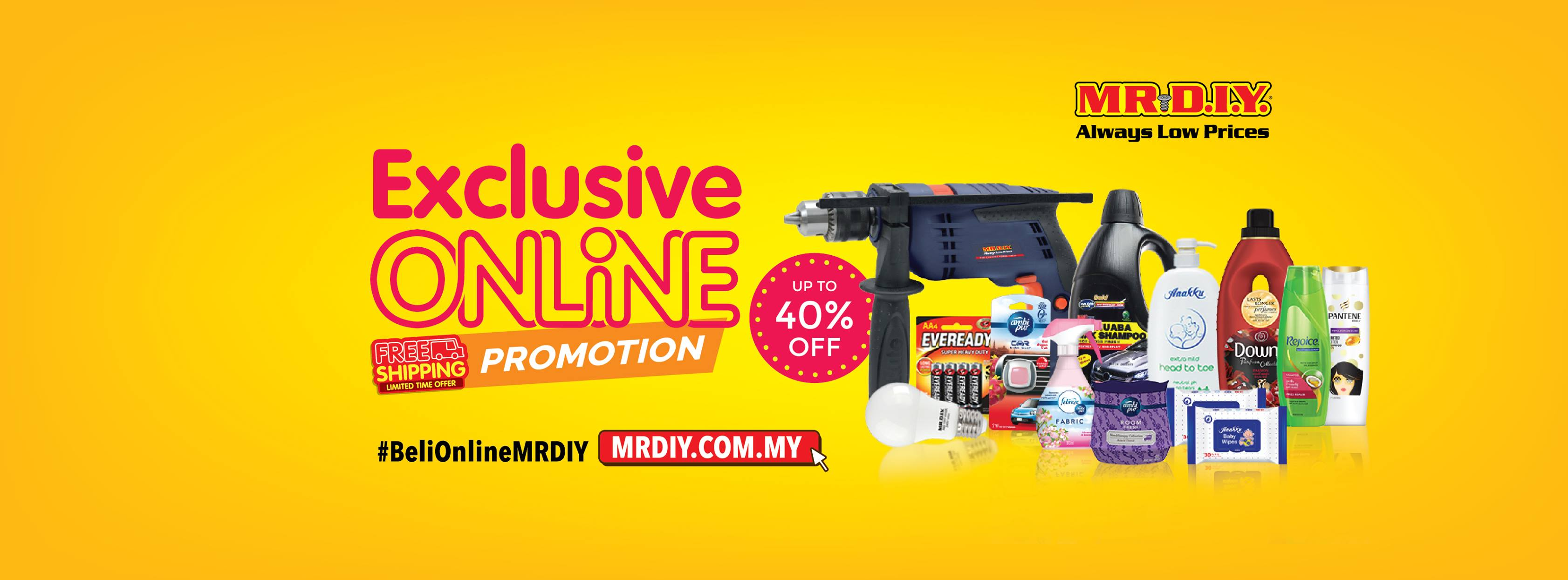 Promosi Eksklusif Online MR. DIY