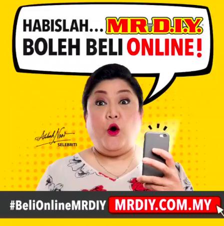 Habislah MR. DIY boleh beli Online!