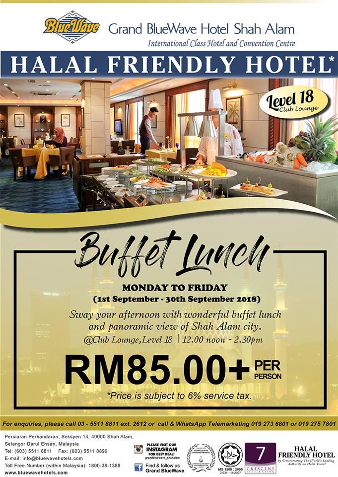 Bufet Makan Tengahari - Club Lounge Grand BlueWave Hotel Shah Alam