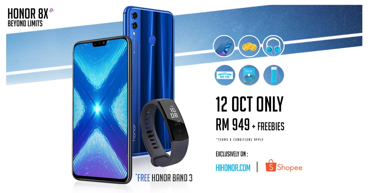 online shopping pada 12 Oktober 2018 - honor 8X