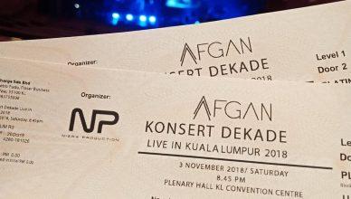 Tiket Afgan Konsert DEKADE Live