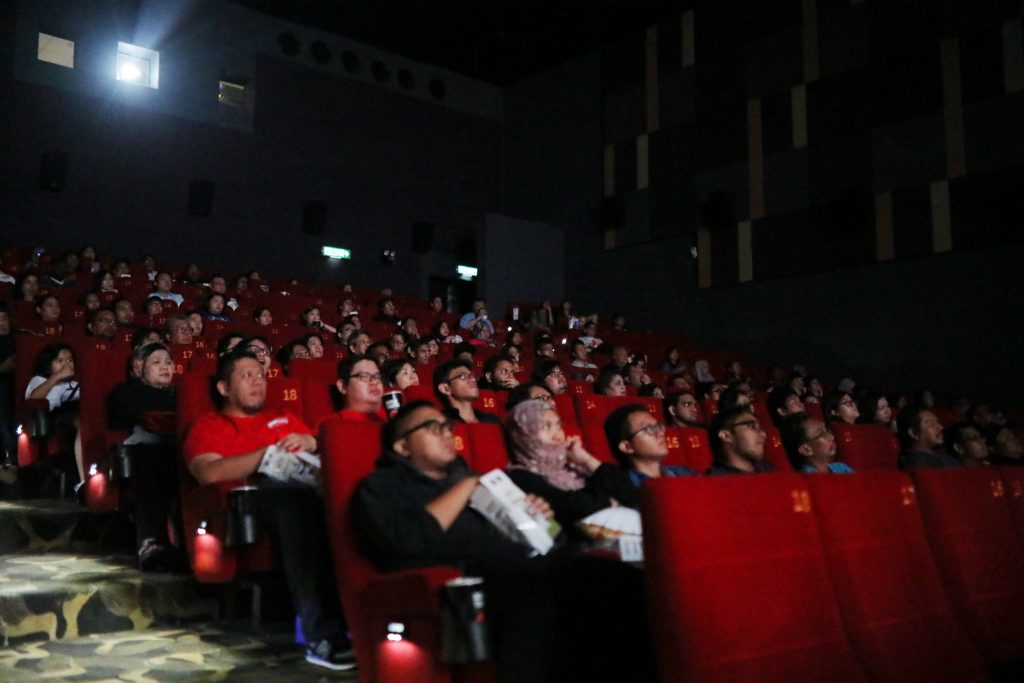 Domino's exclusive customers, Pizza fans, partners and members of the media as well as social media influencers enjoying the much anticipated movie, Aquaman, courtesy of Domino's Pizza.