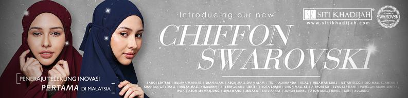 Telekung Siti Khadijah Chiffon Swarovski
