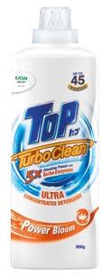 TOP TurboClean Ultra Concentrated Detergent in Power Bloom mempunyai haruman flora yang mendakap anda dalam wangian yang romantik dan menenangkan.