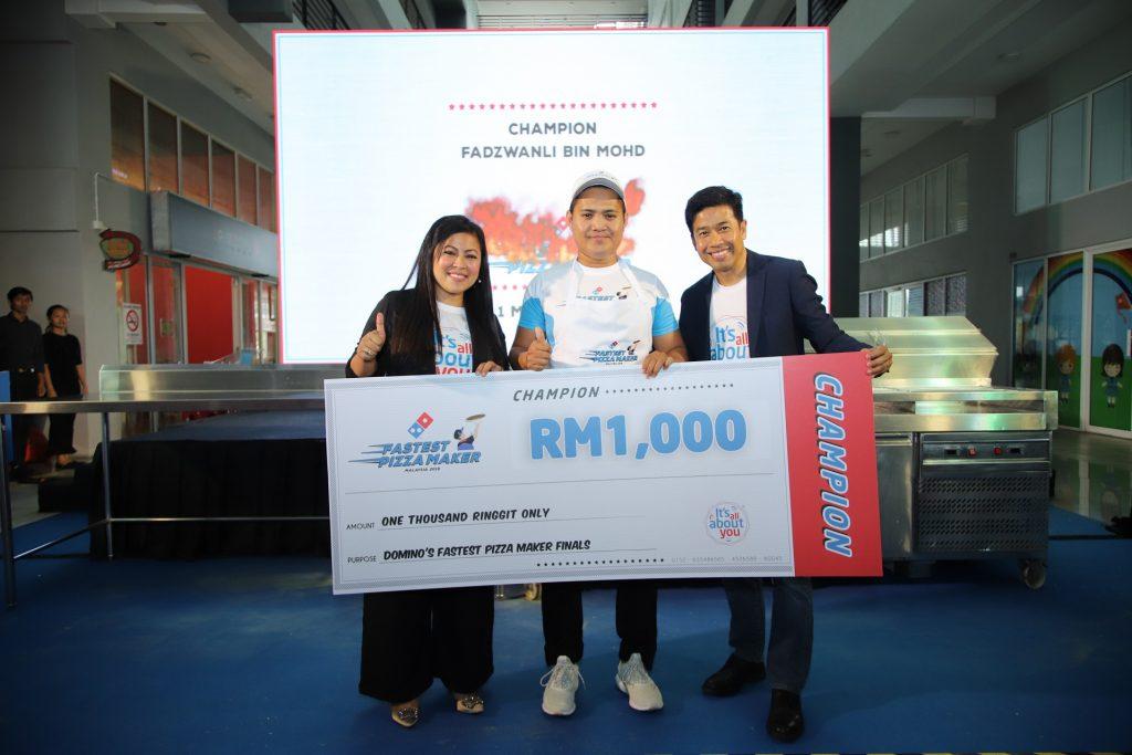 Speedy Wanli sebagai Fastest Pizza Maker Malaysia 2019