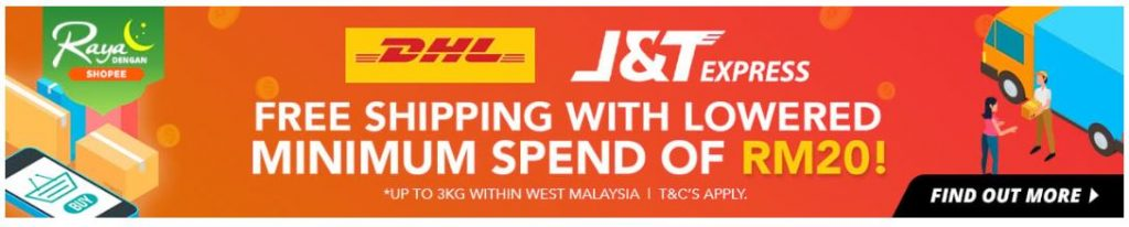 Free Shipping untuk Raya Dengan Shopee