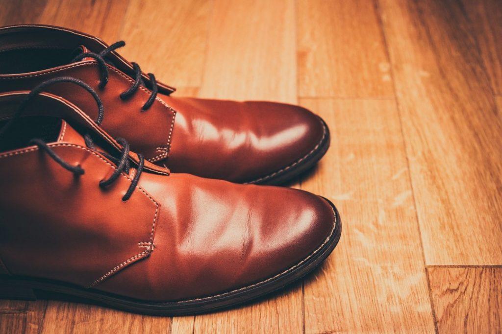 lebutkan kasut kulit