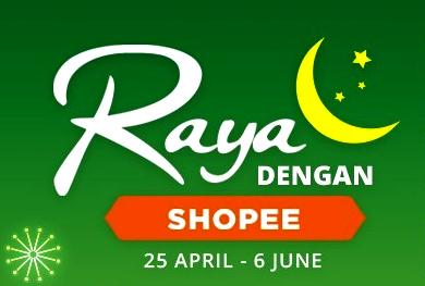 Raya Dengan Shopee logo
