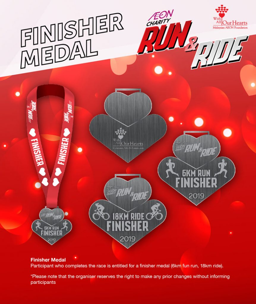 Finisher Medal AEON Charity Run and Ride