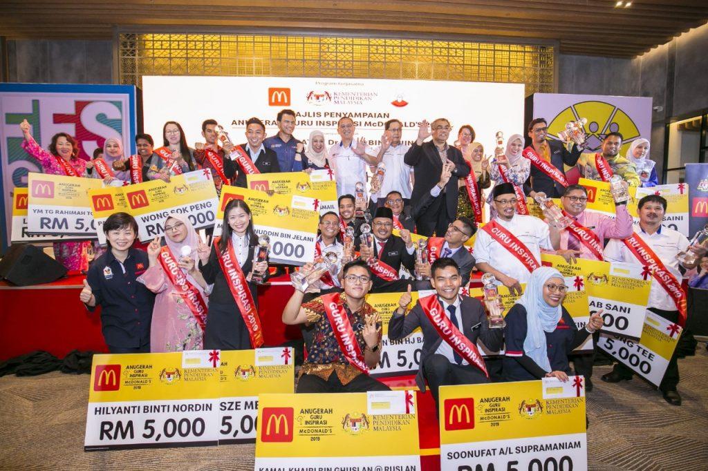 25 orang guru telah dipilih sebagaI penerima Anugerah Guru Inspirasi McDonald's