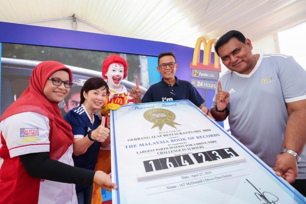 McDonald's Drive-Thru Challenge - Kejayaan tercatat dalam The Malaysia Book of Records
