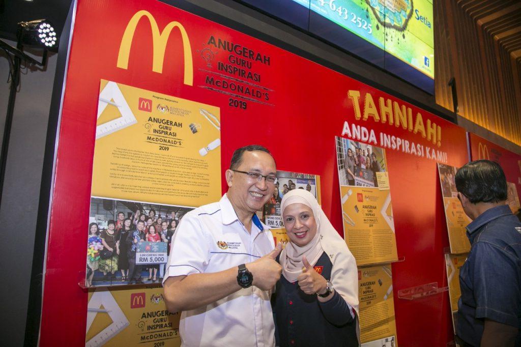 Naib Presiden dan Ketua Pegawai Pemasaran McDonald's Malaysia Melati Abdul Hai dan Datuk Dr Amin bin Senin, Ketua Pengarah Pendidikan Malaysia