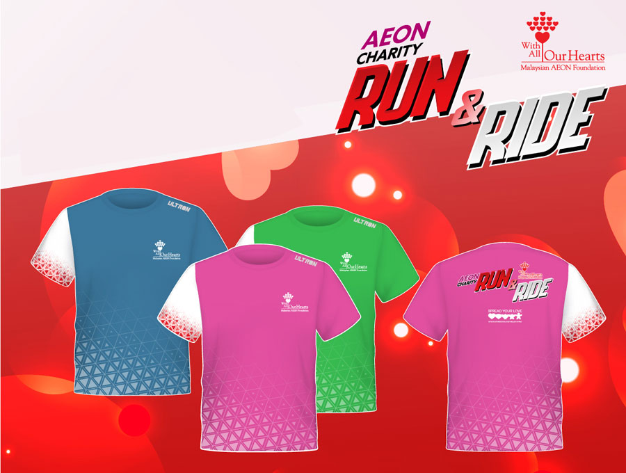 Set pendaftaran AEON Charity Run and Ride