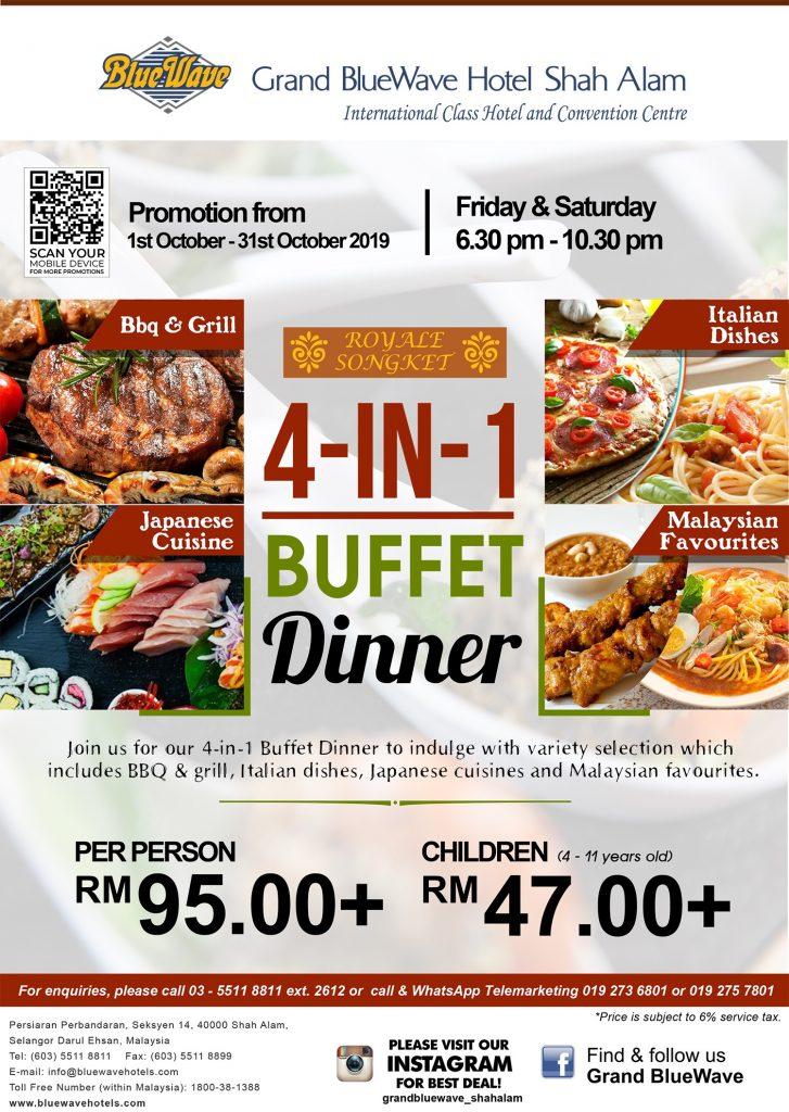 4-dalam-1 bufet makan malam restoran royale songket poster