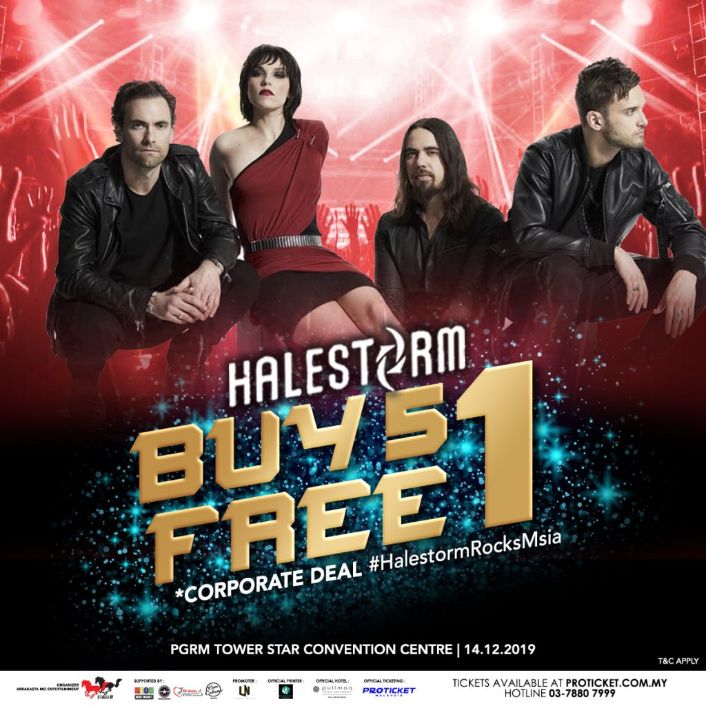 Halestorm - Buy 5 Free 1