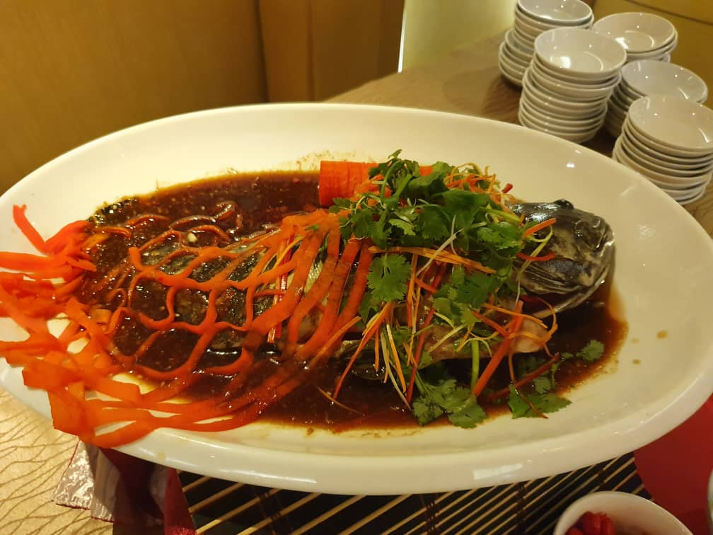 Steamed Grouper with Ginger, Chili & Garlic Soy Sauce