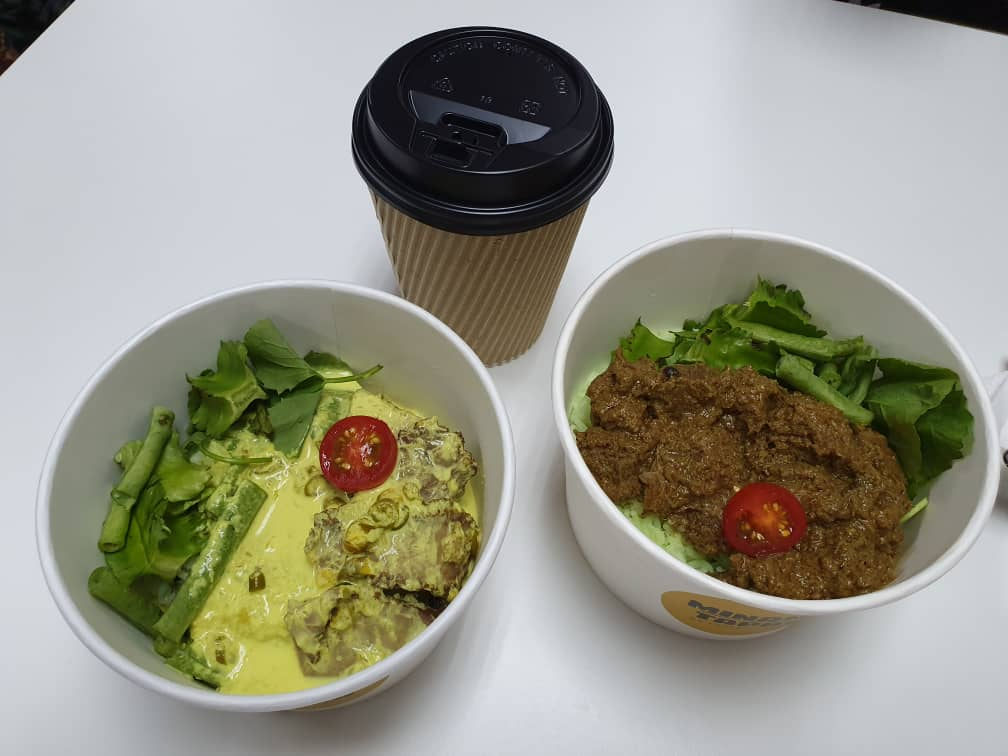Minang Bowl - Daging Salai Masak Lemak Cili Api dan Rendang Minang