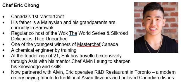 Hos Chef Eric Chong