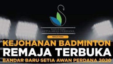 Kejohanan Badminton Terbuka Remaja BBSAP 2020 logo