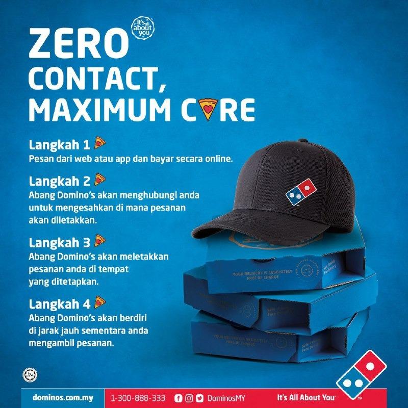 Domino's Pizza Zero Contact Maximum Care