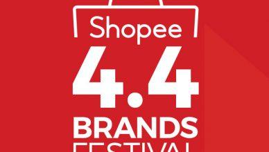 Shopee 4.4 Brands Festival Logo
