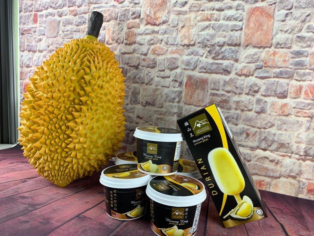 Isi Raja buah dijadikan ice cream
