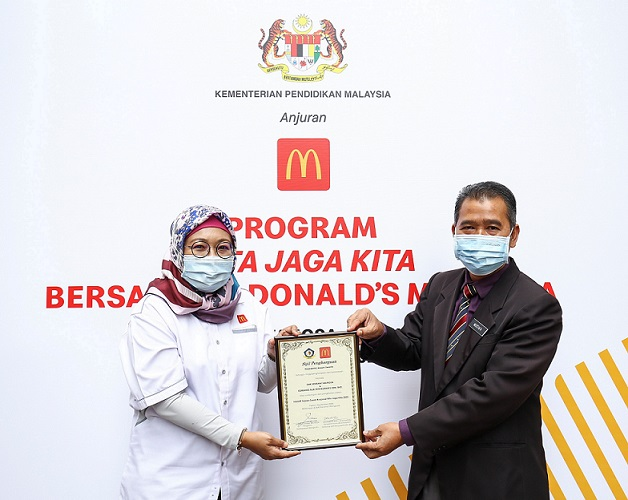 McDonald's Malaysia Menyumbang Mesej Pencegahan COVID-19 di Sekolah