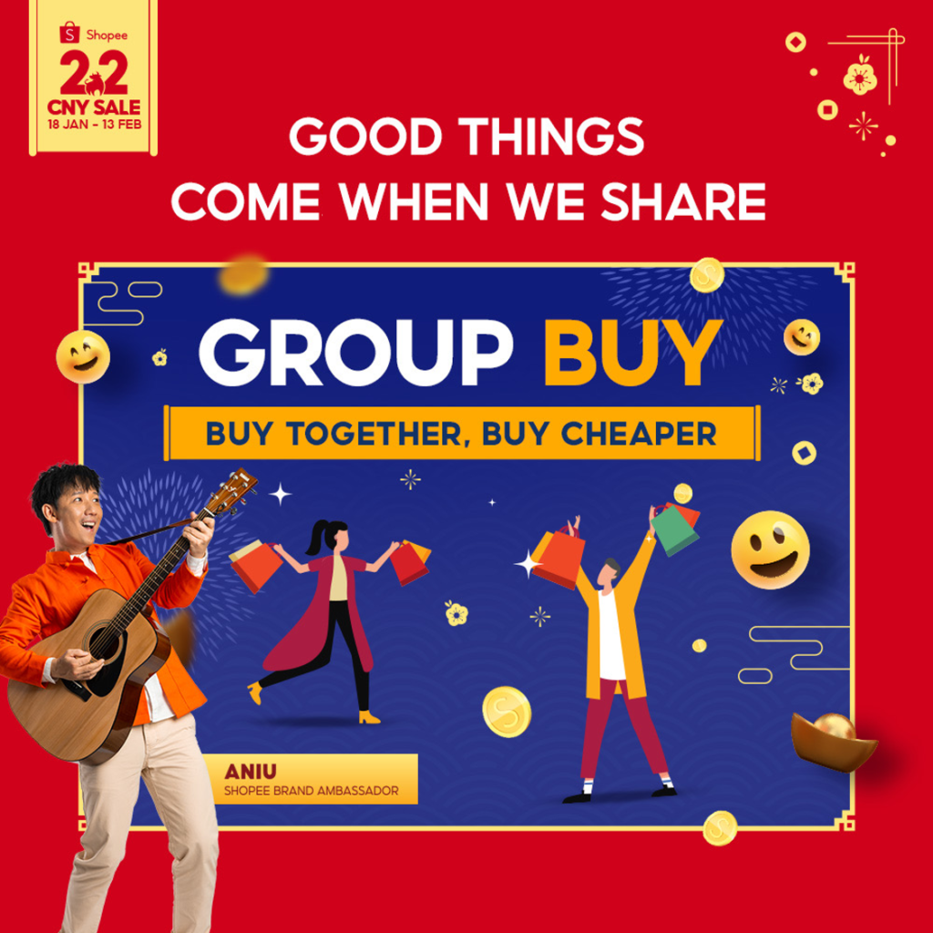 Shopee 2.2 - Group Buy