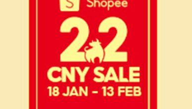 Shopee 2.2 logo 2021