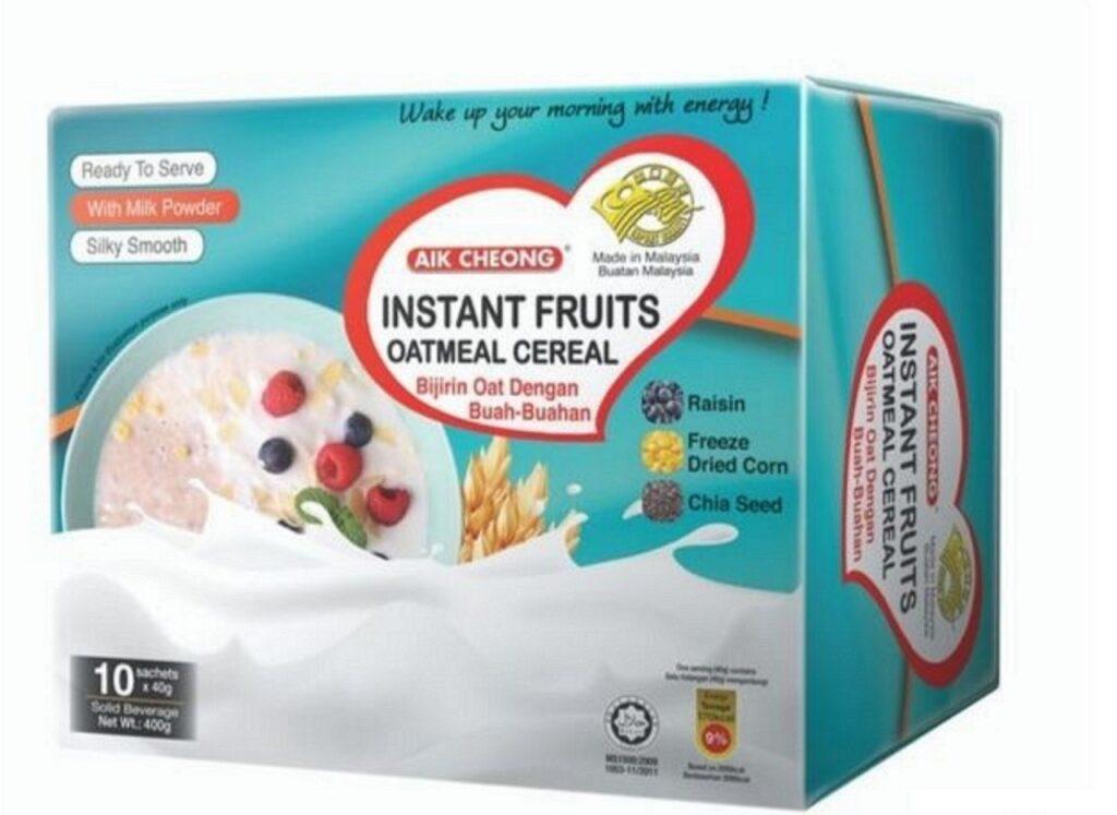 Sarapan Pagi - bijirin oat segera (buahan segera)