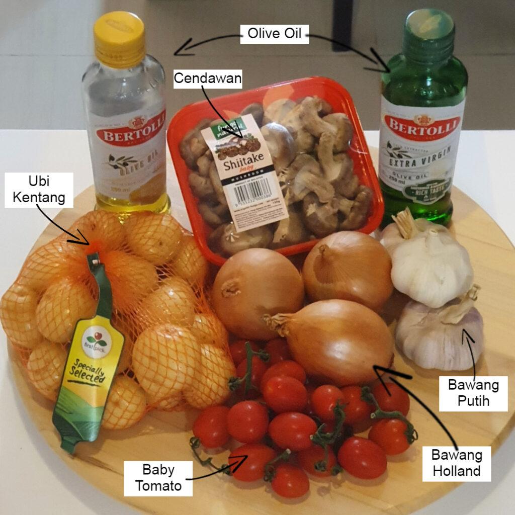 Bahan-bahan untuk Salad Kentang