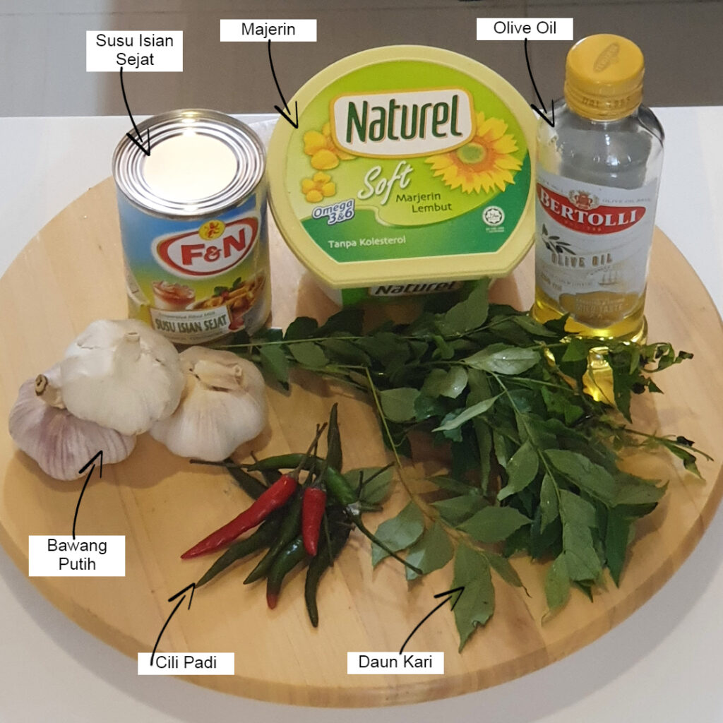 Bahan-bahan untuk sos