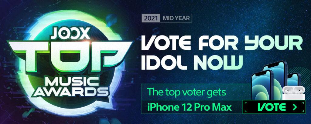 JOOX Top Music Awards Malaysia (Mid Year) 2021 Logo