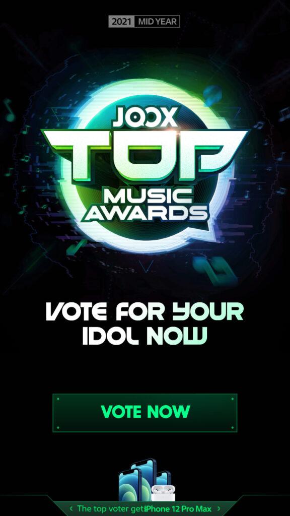 JOOX Top Music Awards Malaysia (Mid Year) 2021 Banner